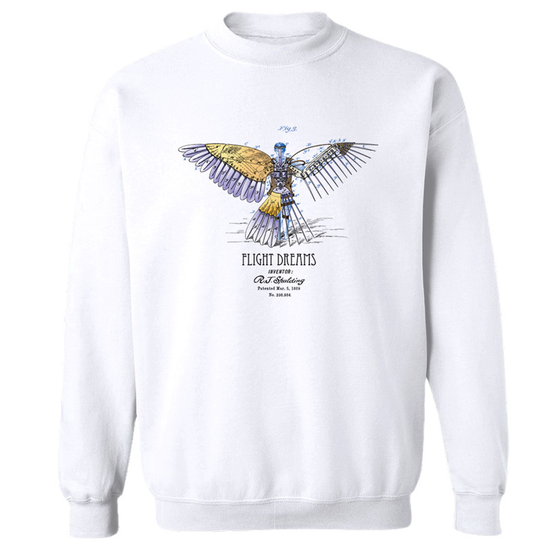 Flight Dreams Crewneck Sweatshirt WHITE