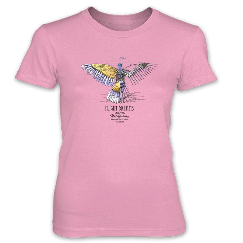 Flight Dreams Women's T-Shirt CHARITY PINK