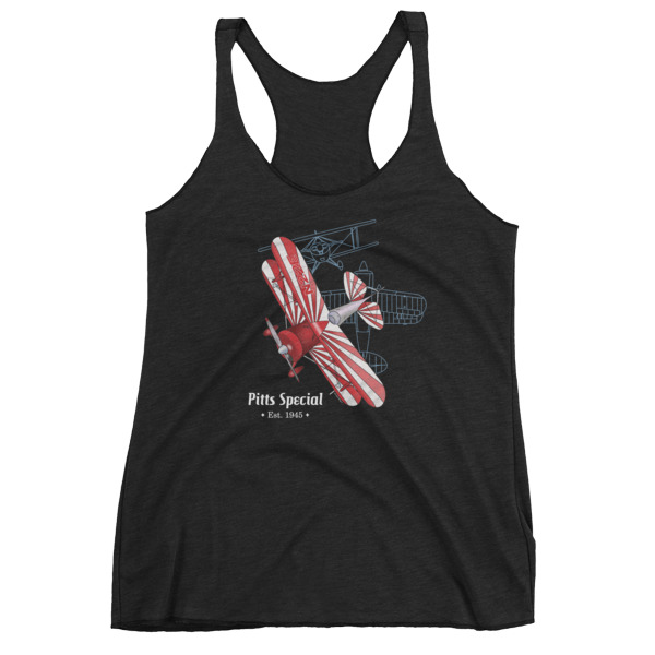 Pitts Special Women's Racerback Tank VINTAGE BLACK
