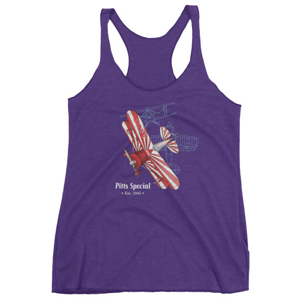 Pitts Special Women's Racerback Tank PURPLE RUSH
