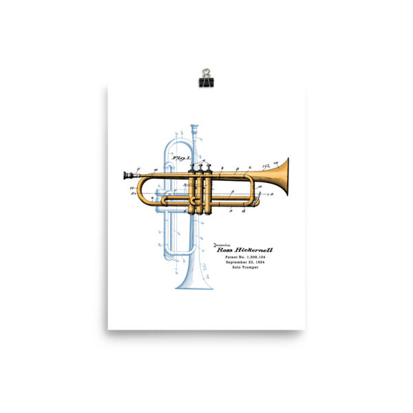 Trumpet Solo Wall Art 1 Unframed 8x10