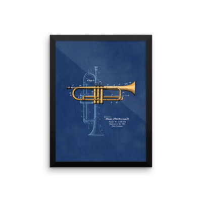 Trumpet Solo Wall Art 2 Framed 12x16