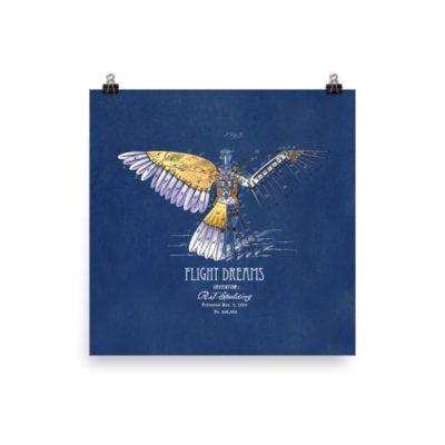 Flight Dreams Wall Art 2 Unframed 10x10