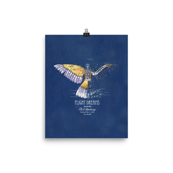 Flight Dreams Wall Art 2 Unframed 8x10