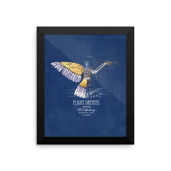 Flight Dreams Wall Art 2 Framed 8x10