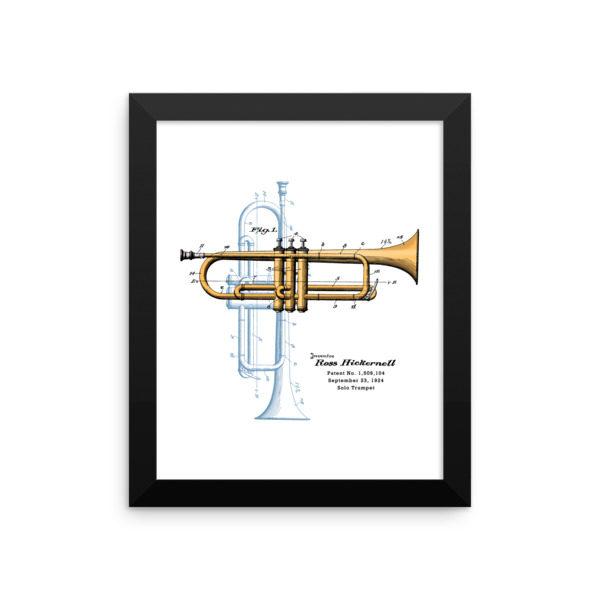 Trumpet Solo Wall Art 1 Framed 8x10