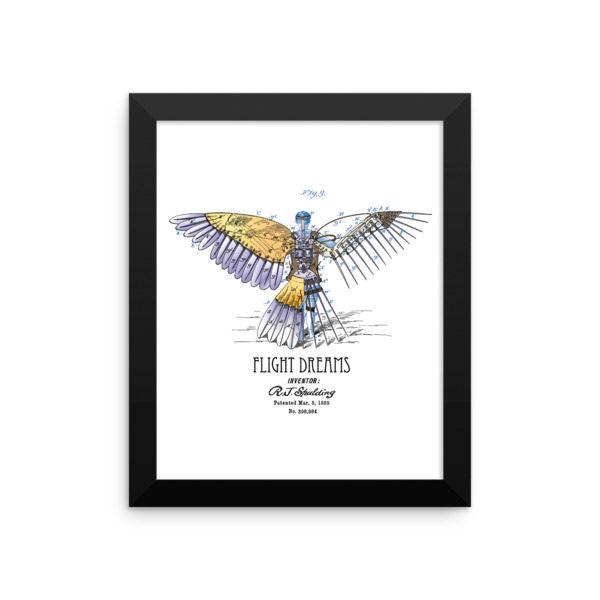 Flight Dreams Wall Art 1 Framed 8x10