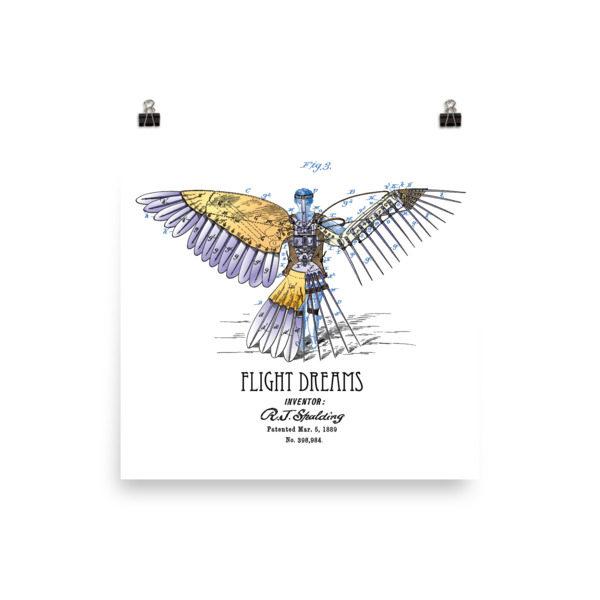 Flight Dreams Wall Art 1 Unframed 10x10