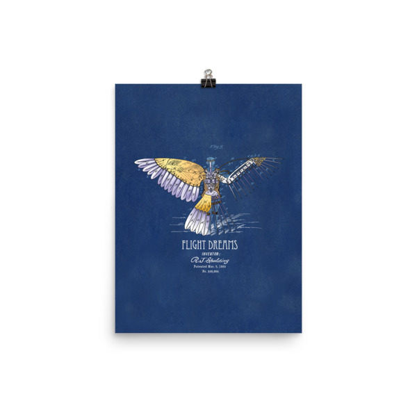 Flight Dreams Wall Art 2 Unframed 12x16