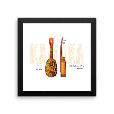 Pineapple Ukulele Wall Art 1 Framed 10x10
