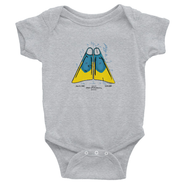 Churchill Fins Wee Onesie HEATHER