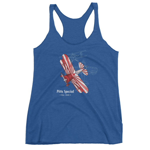 Pitts Special Women's Racerback Tank VINTAGE ROYAL