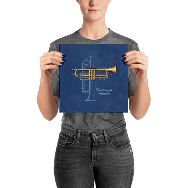 Trumpet Solo Wall Art 2 Unframed 10x10