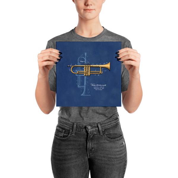 Trumpet Solo Wall Art 2 Unframed 10x10