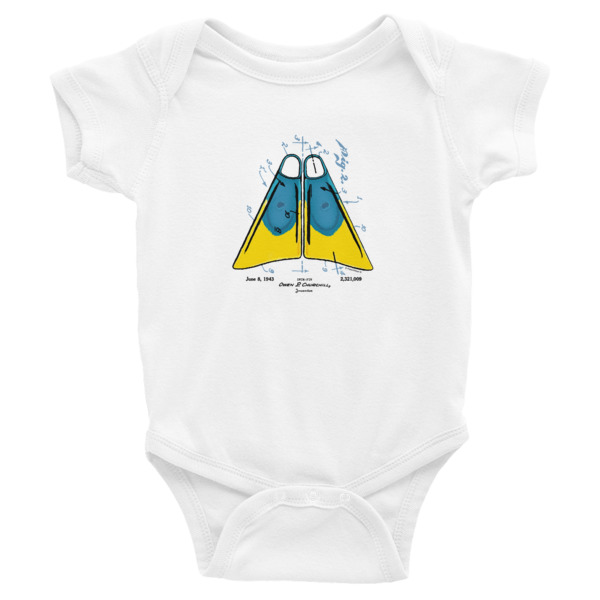 Churchill Fins Wee Onesie WHITE