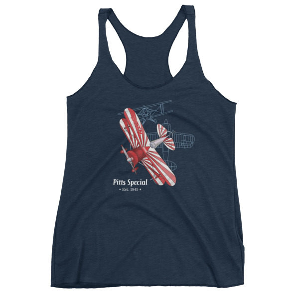 Pitts Special Women's Racerback Tank VINTAGE NAVY