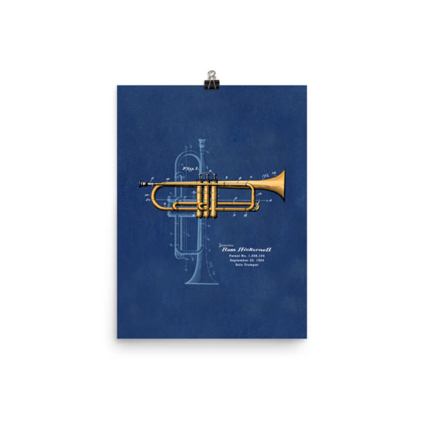 Trumpet Solo Wall Art 2 Unframed 12x16