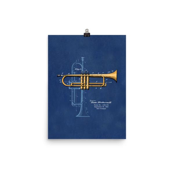 Trumpet Solo Wall Art 2 Unframed 12x16