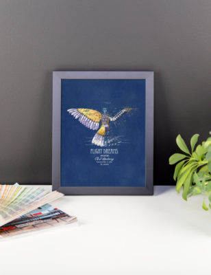 Flight Dreams Wall Art 2 Framed 8x10
