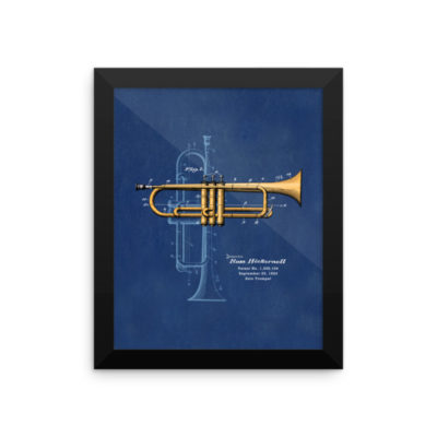 Trumpet Solo Wall Art 2 Framed 8x10