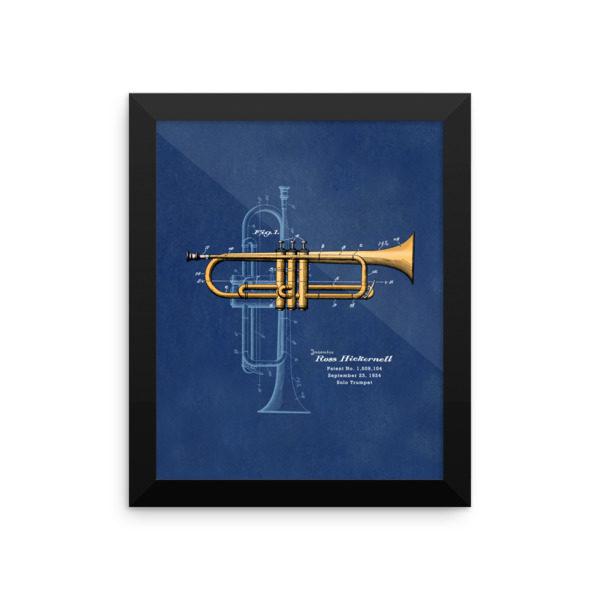 Trumpet Solo Wall Art 2 Framed 8x10