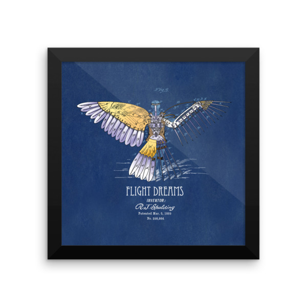 Flight Dreams Wall Art 2 Framed 10x10