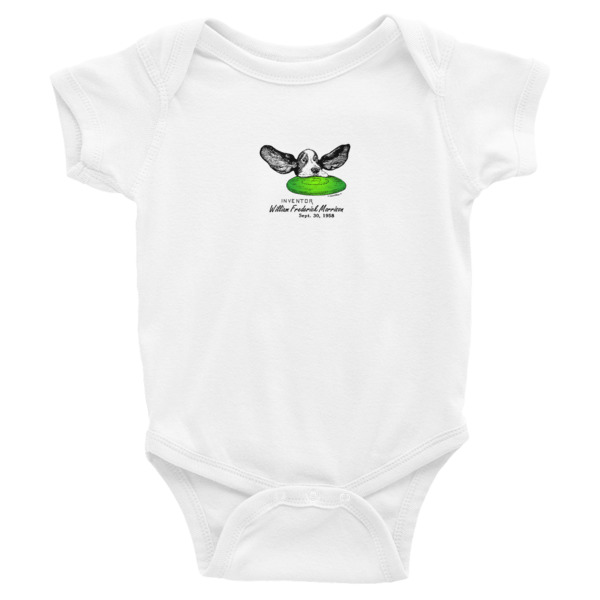 Flying Disc Wee Onesie WHITE