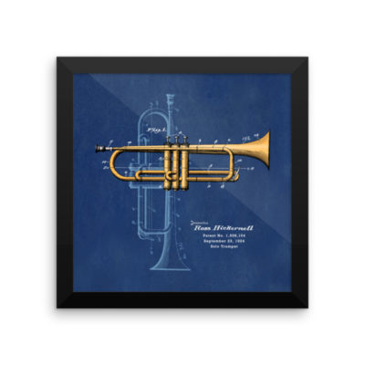 Trumpet Solo Wall Art 2 Framed 10x10