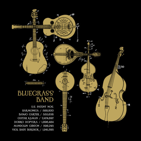 Bluegrass Band Design on Darks