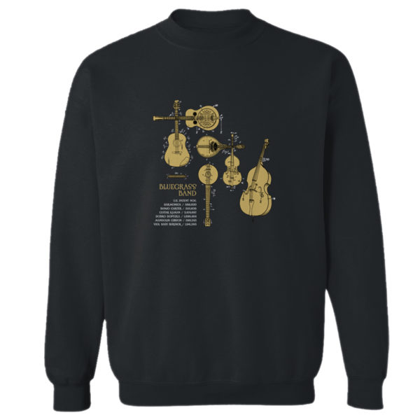 Bluegrass Band Crewneck Sweatshirt BLACK