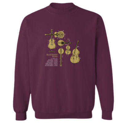 Bluegrass Band Crewneck Sweatshirt MAROON