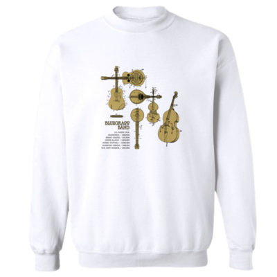 Bluegrass Band Crewneck Sweatshirt WHITE