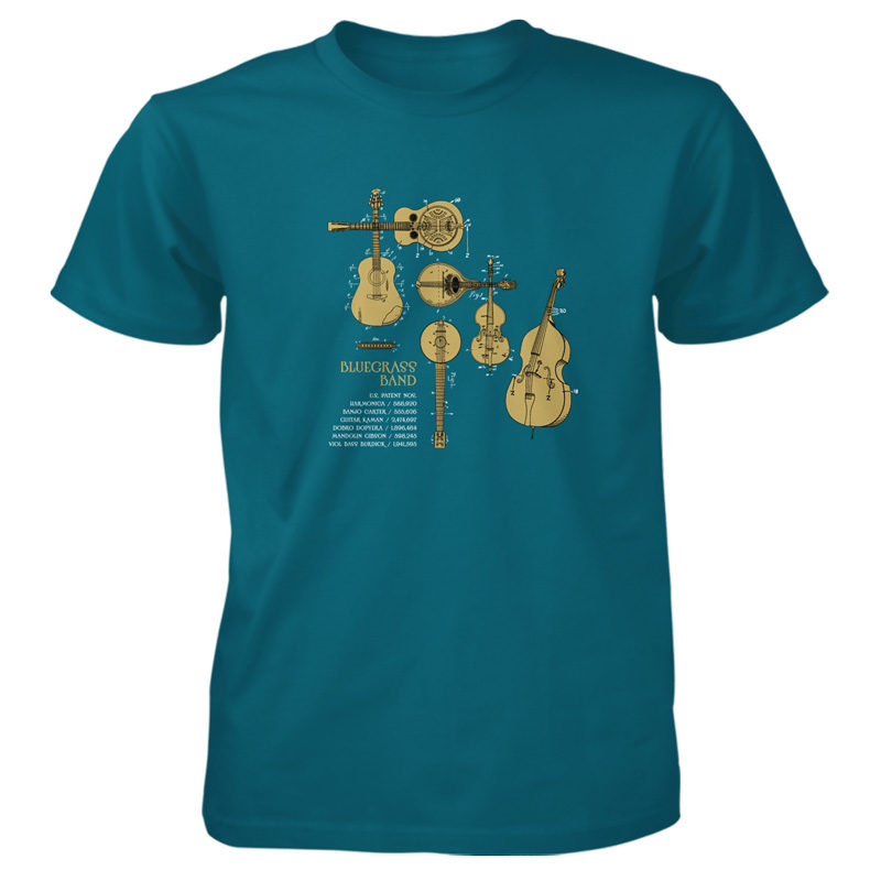 Bluegrass Band T-Shirt GALAPAGOS BLUE