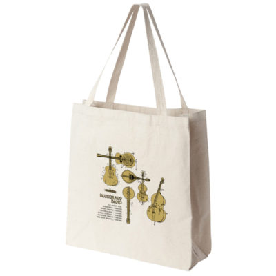 Bluegrass Band Tote Bag SIDE (gusset view)