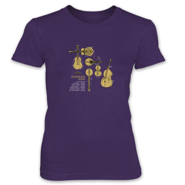 Bluegrass Band Women's T-Shirt PURPLE