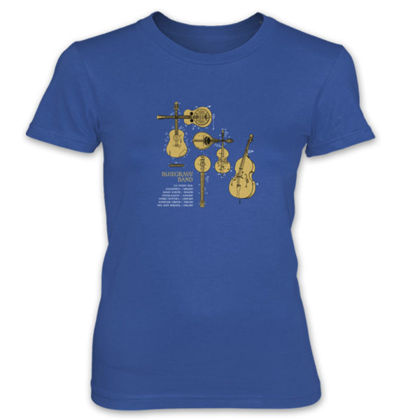 Bluegrass Band Women's T-Shirt ROYAL BLUE