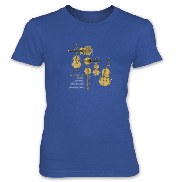 Bluegrass Band Women's T-Shirt ROYAL BLUE