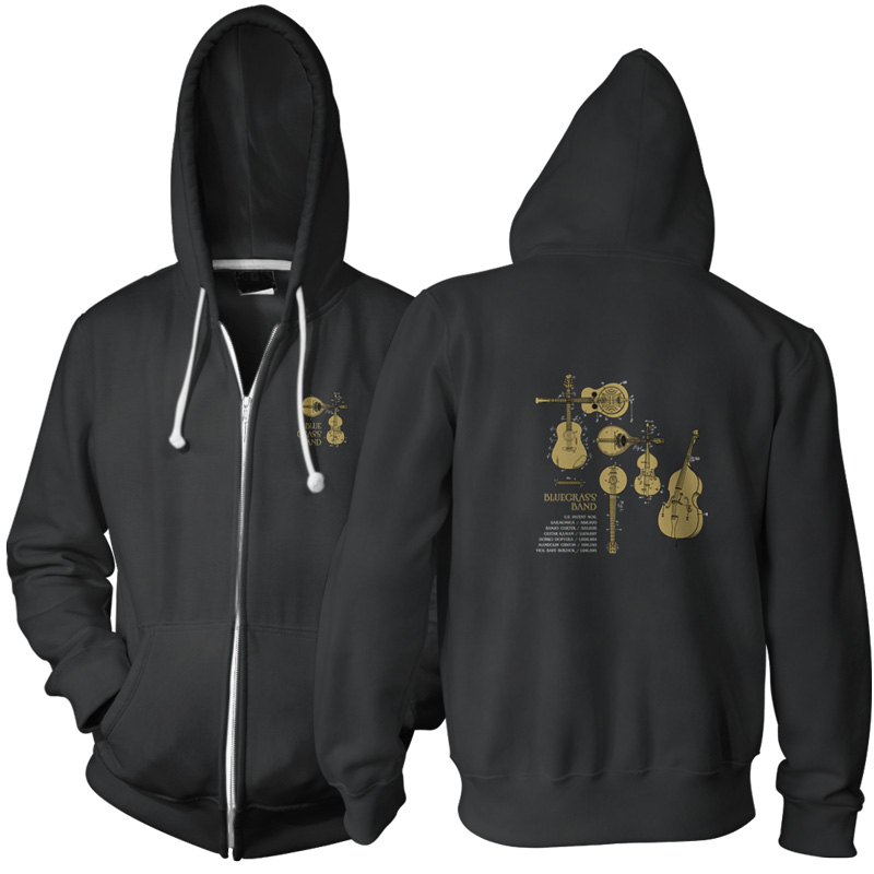 Bluegrass Band Zip Hoodie BLACK