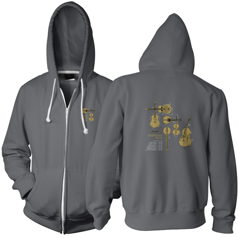 Bluegrass Band Zip Hoodie CHARCOAL