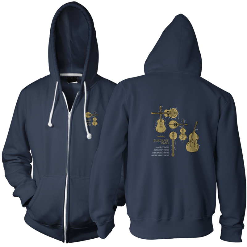 Bluegrass Band Zip Hoodie NAVY