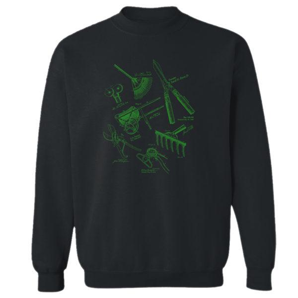 Garden Tools MS Lineart Crewneck Sweatshirt BLACK