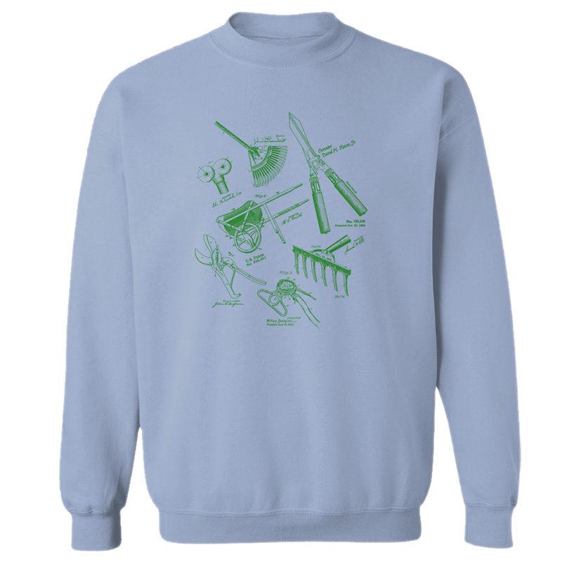Garden Tools MS Lineart Crewneck Sweatshirt LIGHT BLUE