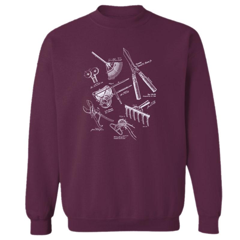 Garden Tools MS Lineart Crewneck Sweatshirt MAROON