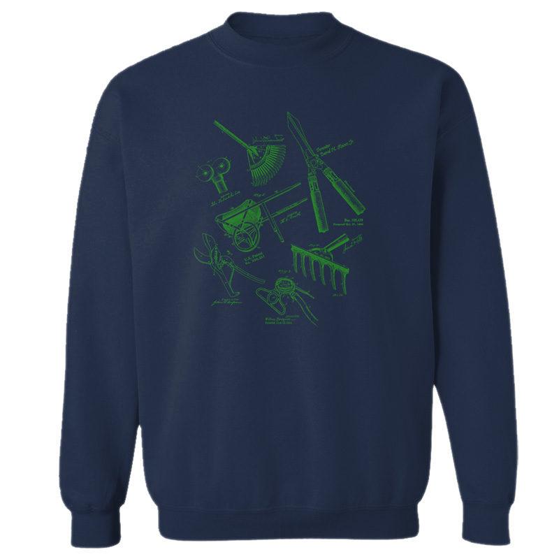 Garden Tools MS Lineart Crewneck Sweatshirt NAVY