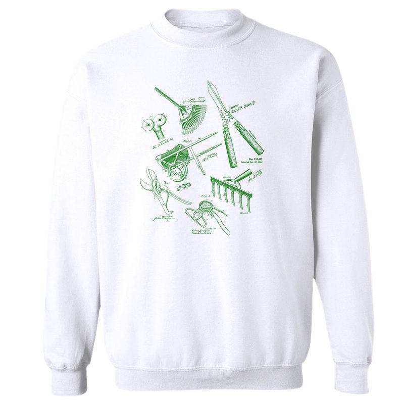 Garden Tools MS Lineart Crewneck Sweatshirt WHITE