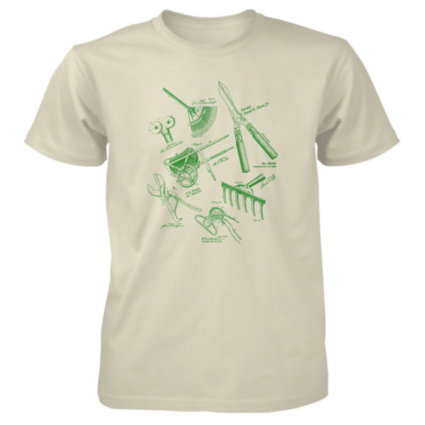 Garden Tools MS Lineart T-Shirt NATURAL