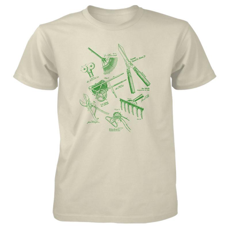 Garden Tools MS Lineart T-Shirt NATURAL