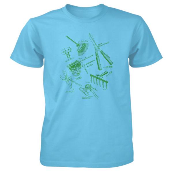 Garden Tools MS Lineart T-Shirt SKY