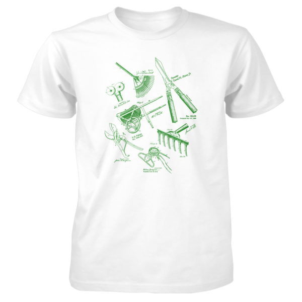 Garden Tools MS Lineart T-Shirt WHITE