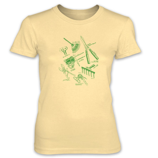Garden Tools MS Lineart Ladies T-Shirt SPRING YELLOW